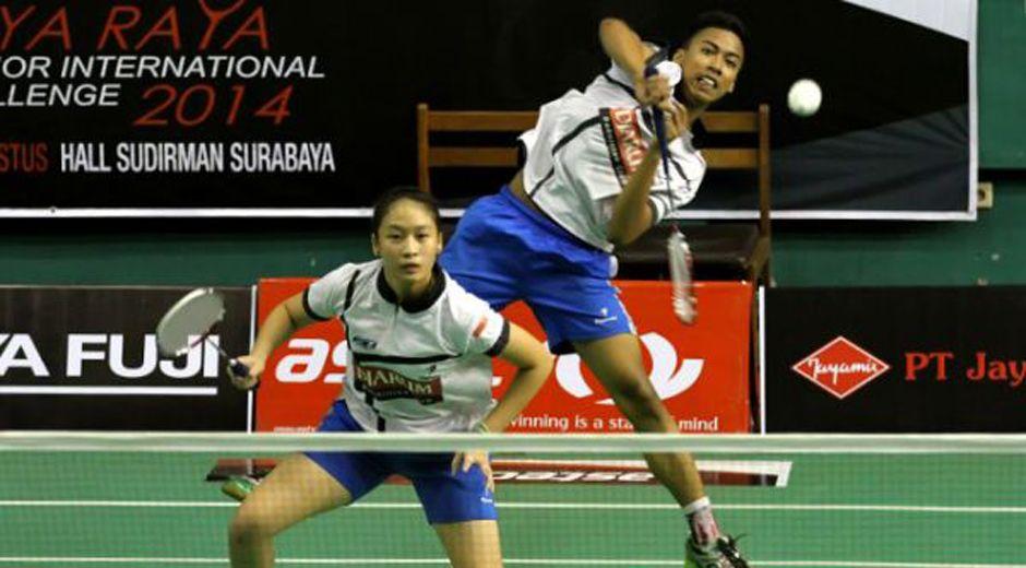 [Indonesia Junior International Challenge 2014] Ridho/Felicia Menang Dua Game Dari Singapura